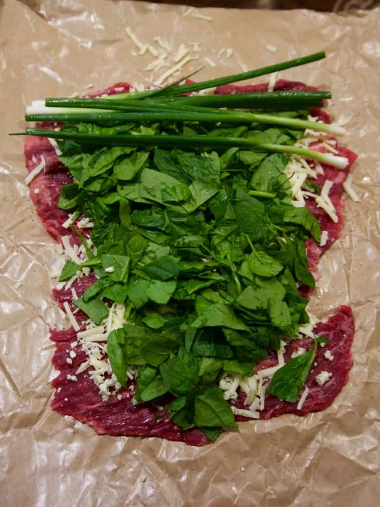 Flank Steak Pinwheels with Spinach, Gorgonzola and Asiago ...