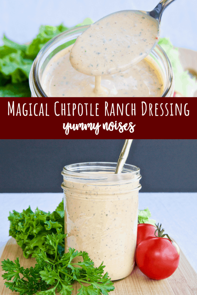 Shareable social media image of Magical Chipotle Ranch Dressing